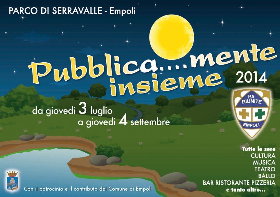 """Al Parco di Serravalle torna """"Pubblicamente insieme"""". Quinta edizione fra teatro, musica, ballo, animazione per i più piccoli e incontri dedicati al sociale"""