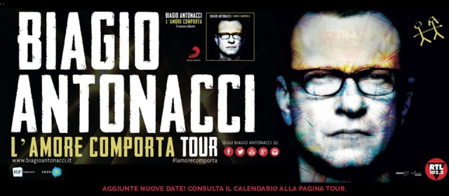 """Biagio Antonacci in concerto al Nelson Mandela Forum con """"L'amore Comporta Tour"""""""