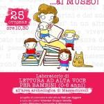 """[ Massarosa ] """"Nati per leggere…al Museo"""": nuovo appuntamento con i laboratori di lettura ad alta voce per bambini da 0 a 6 anni"""