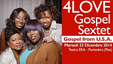 4Love Gospel Sextet in concerto al Teatro Era. Per Natale il classico appuntamento con il gospel americano