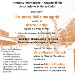 [ Pisa ] Olocausto e desaparecidos: speciale Giorno della Memoria con Amnesty International e Associazione 24Marzo