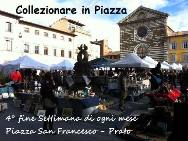 Prato prato collezionare in piazza mostra mercato di for Mercato prato