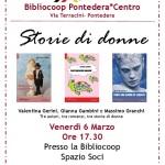 """[ Pontedera ] """"Storie di donne"""": tre autrici, tre libri, tre epoche con la Bibliocoop"""