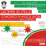 """[ Pescia ] """"Lacrime di Stelle"""" nella chiesa di San Domenico con musica sacra, cocomerata, osservazione delle stelle"""