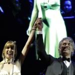 [ Lajatico ] La cantante lucchese Ilaria Della Bidia, con Andrea Bocelli sul palco del Teatro del Silenzio