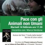 """[ Firenze ] """"Pace con gli animali non umani"""" incontro con Marco Verdone alla Biblioteca delle Oblate"""