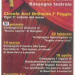 Stagione Teatrale 2016 al Teatro I'Poggino Ortimino