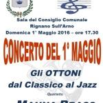 [ Rignano sull'Arno ] 1° maggio: concerto a Rignano sull'Arno