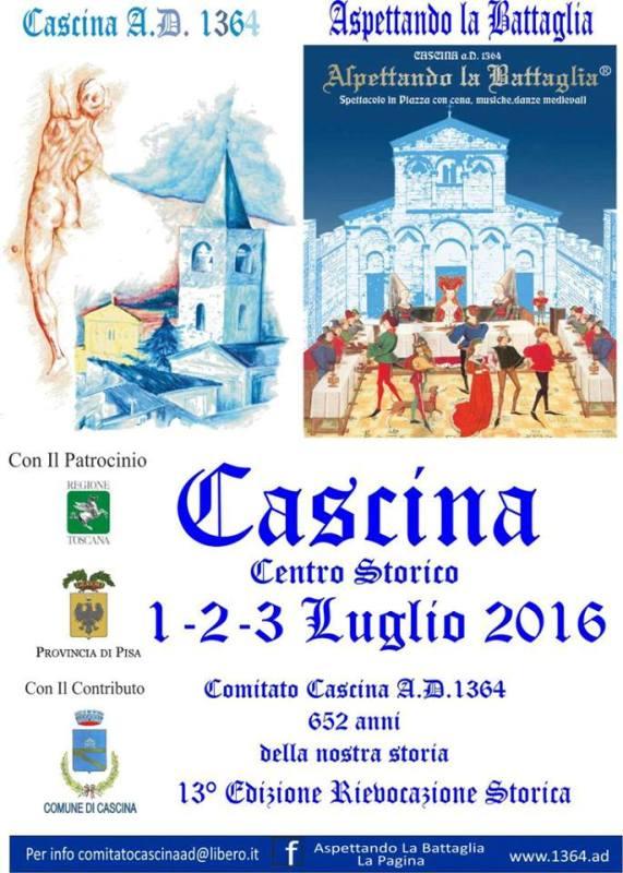 Tanti eventi a Cascina nel prossimo fine settimana