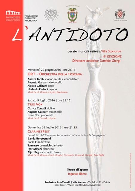 L'Antidoto VI edizione, rassegna di serate musicali a Villa Stonorow