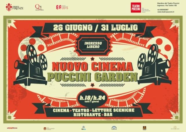Nuovo Cinema Puccini Garden, la rassegna di cinema, teatro e letture sceniche