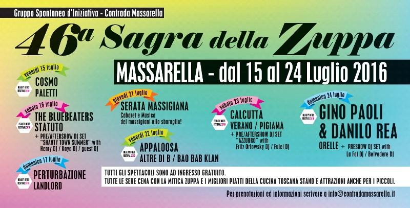 Sagra della Zuppa a Massarella: grandi ospiti per la 46^ edizione. Guest star Gino Paoli