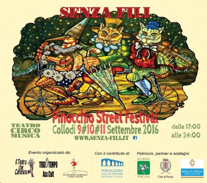 """""""Senza Fili"""": a Collodi arriva il Pinocchio Street Festival"""