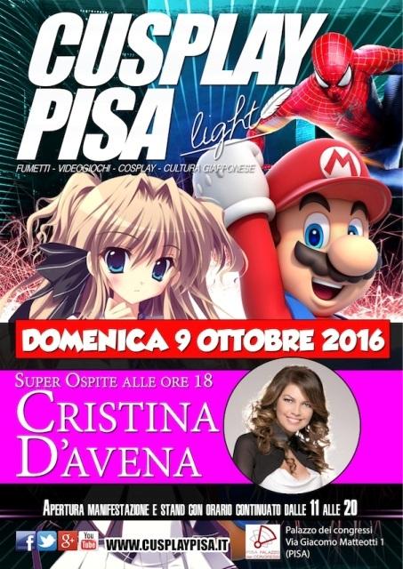 Cusplay Pisa, super ospite del festival Cristina D'Avena
