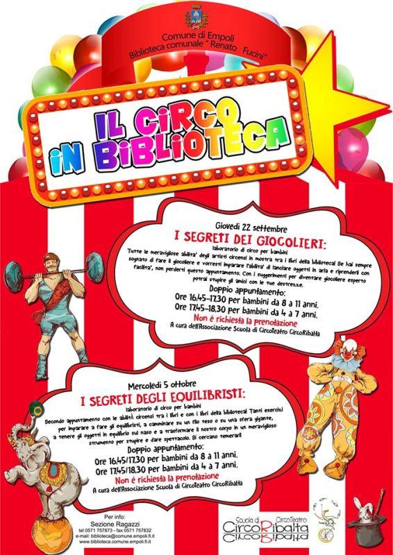 Per tutti i bimbi amanti delle arti circensi, ecco 'Il Circo' in biblioteca a Empoli