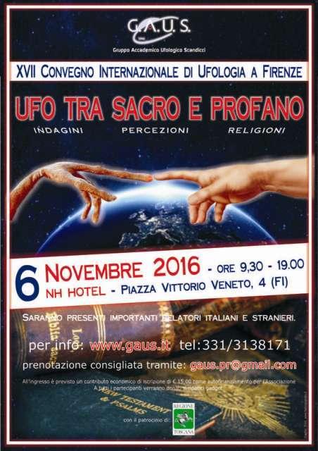 """Convegno Internazionale di Ufologia """"Ufo tra sacro e profano"""""""