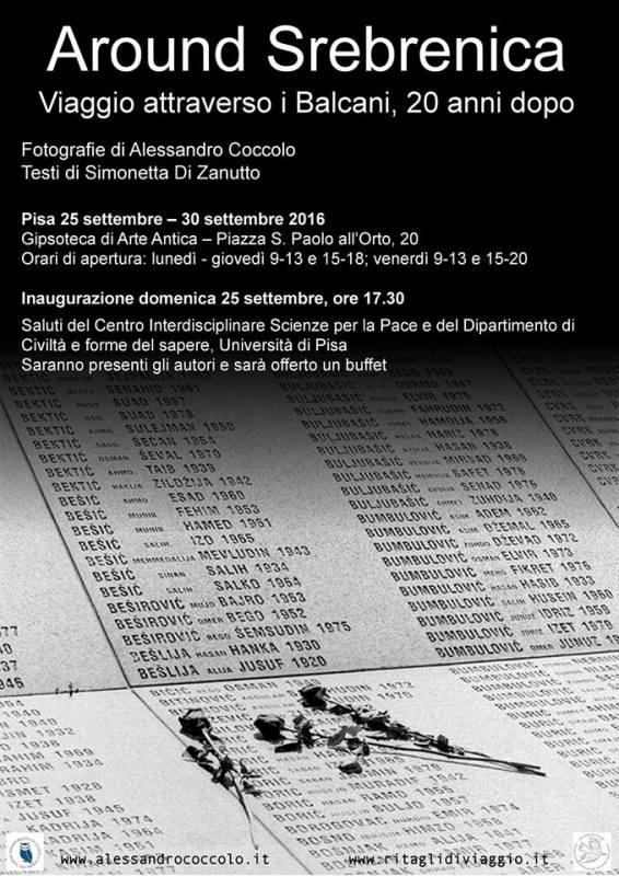 Around Srebrenica. Viaggio attraverso i Balcani, 20 anni dopo Mostra in Gipsoteca a Pisa