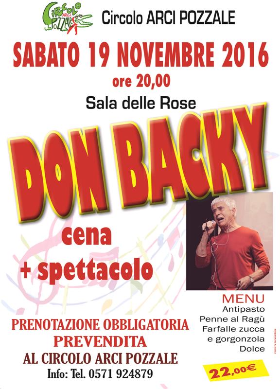 Don Backy al Circolo ARCI Pozzale, Empoli