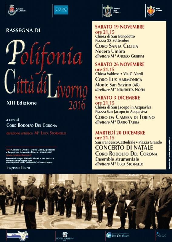Rassegna di Polifonia Vocale Città di Livorno 2016 – XIII edizione
