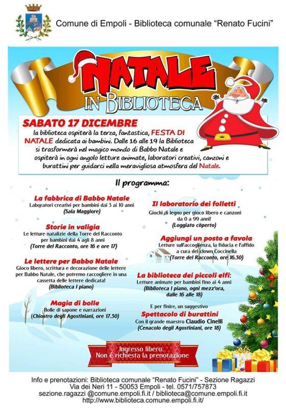 Festa di Natale per bambini alla biblioteca comunale, iniziativa giunta alla 3a edizione