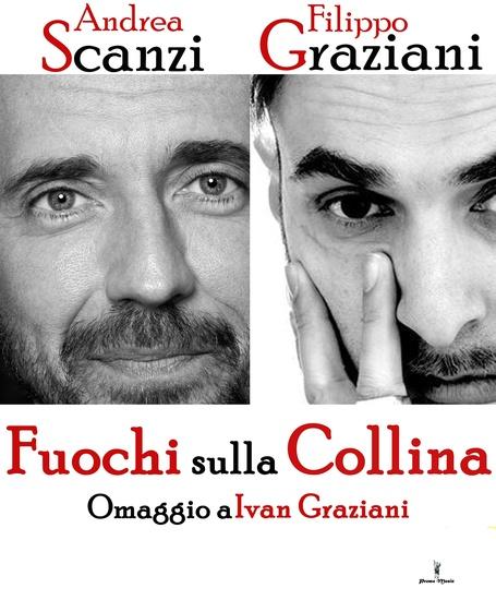 Andrea Scanzi e Filippo Graziani in Fuochi sulla collina al Teatro Puccini