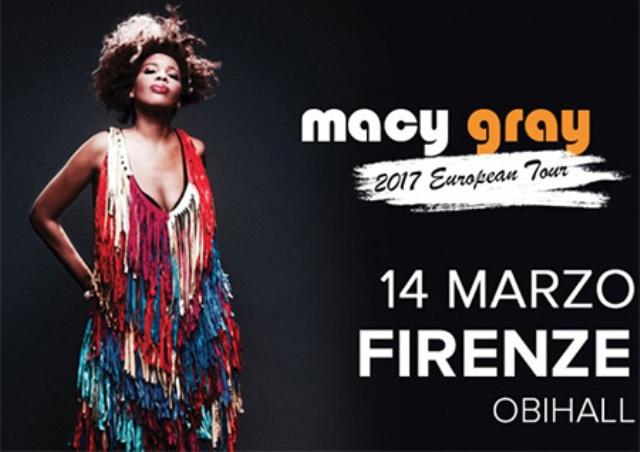 Macy Gray una delle voci che hanno definito il soul mondiale in concerto all'Obihall