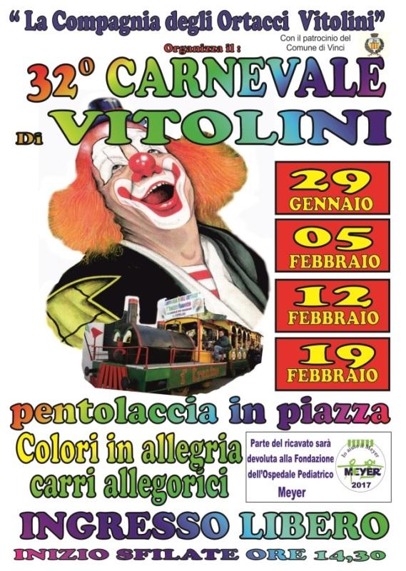 A Vitolini torna il Carnevale dei Bambini a cura della Compagnia degli Ortacci