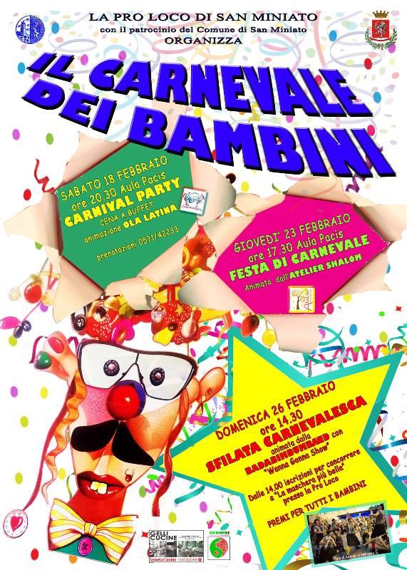 Carnevale dei Bambini a San Miniato