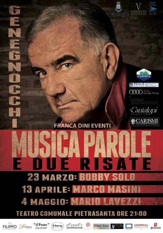"""Eventi: """"Musica, parole e… due risate"""" al Teatro Comunale di Pietrasanta l'ironia di Gene Gnocchi"""
