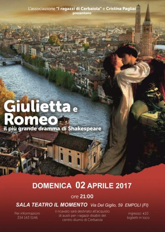 """""""Romeo & Giulietta"""" al Teatro Il Momento a cura dell'Associazione I Ragazzi di Cerbaiola"""