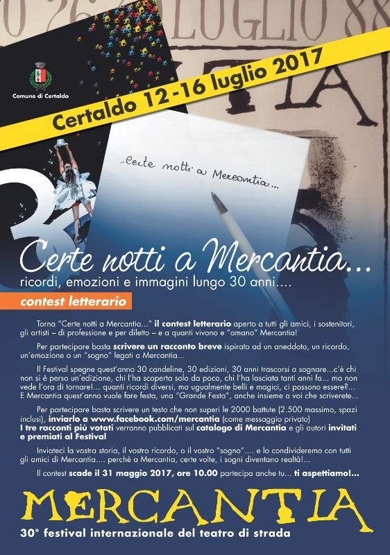 """""""Certe notti a Mercantia…"""" – contest letterario, II edizione. Per i primi tre racconti la pubblicazione sul catalogo del Festival"""