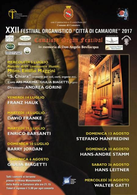 22° Festival Organistico Città di Camaiore