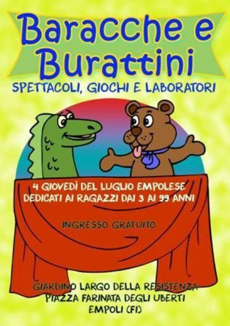 Baracche e Burattini quattro appuntamenti dedicati ai ragazzi con uno spettacolo e giochi, laboratorio