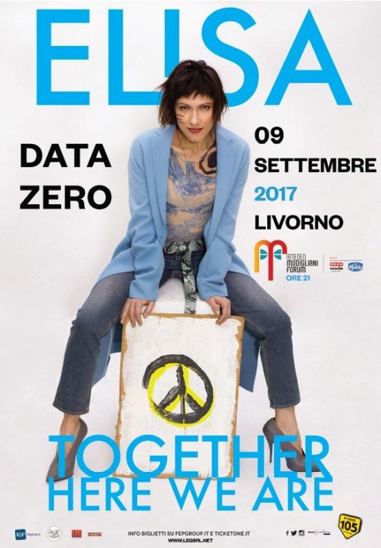 """Elisa al Modigliani Forum di Livorno anticipa """"Together here we are"""""""
