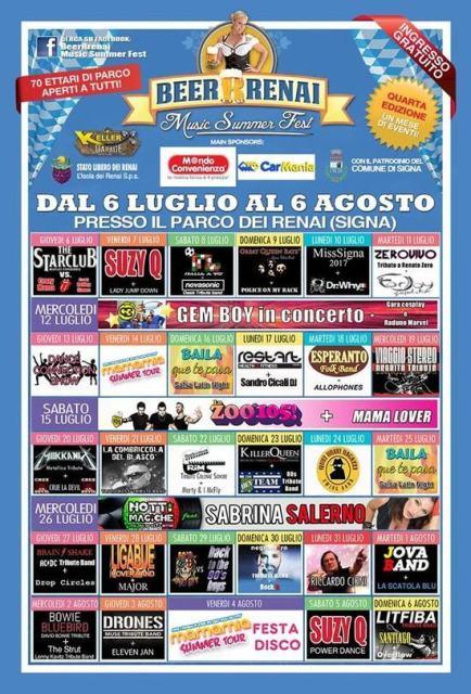 BeerRrenai Music Summer Fest al Parco dei Renai
