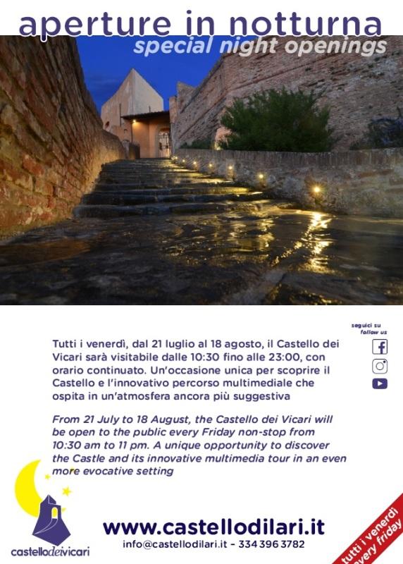 Castello dei Vicari di Lari aperto con il nuovo percorso multimediale