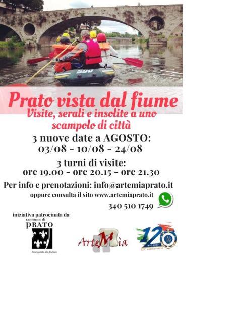 Prato visita sul fiume: visite insolite a uno scampolo di città