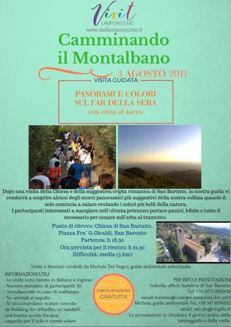 Camminando il Montalbano visite guidate tra natura, cultura e storia tutti i giovedì di agosto