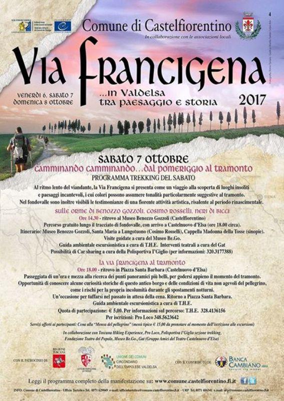 Via Francigena in festa: tanti eventi in collaborazione con la Proloco di Castelfiorentino