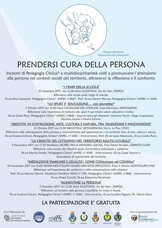 'Prendersi cura della persona', sei incontri di pedagogia clinica e multidisciplinarietà