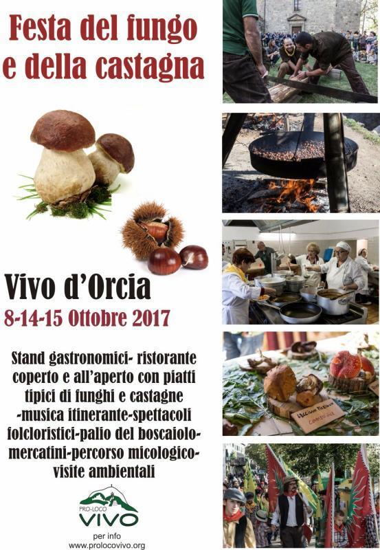 Sagra del Fungo e della Castagna e Palio del Boscaiolo a Vivo d'Orcia