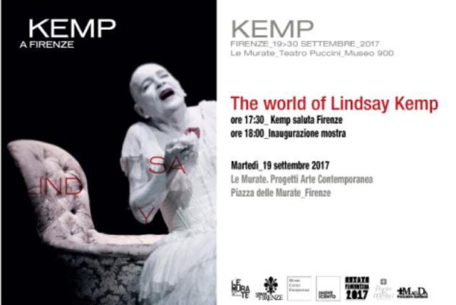 "La mostra ""The world of Lindsay Kemp"" con disegni, video, libri, foto, presenze"