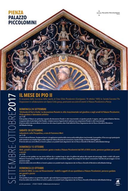 Il mese di Pio II si festeggia l'anniversario di nascita con eventi a Palazzo Piccolomini
