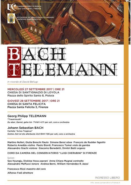 Bach Telemann in ricordo del M° David Bellugi con due appuntamenti in programma a Pistoia e Firenze