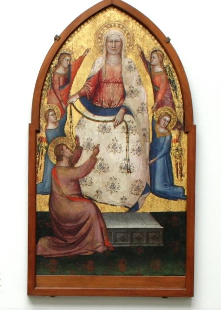 La Madonna della Cintola di Bicci di Lorenzo  dal Museo della Collegiata a una mostra a Prato