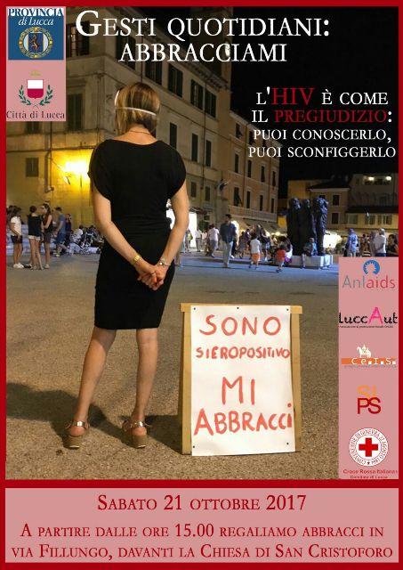 """""""Gesti Quotidiani: Abbracciami"""" un'iniziativa dell'Anlaids Versilia contro il pregiudizio"""