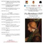"""[ Firenze ] Convegno di studi """"Fra Bartolomeo 1517"""" per celebrare il centenario della morte del pittore"""