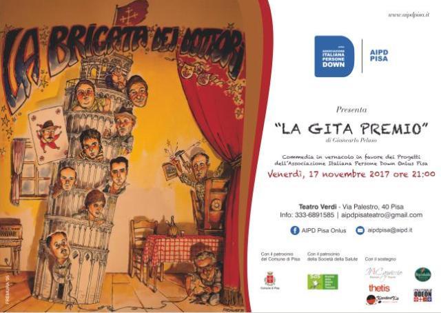 La Gita Premio della Brigata dei Dottori al Teatro Verdi, il ricavata andrà  a sostenere i progetti per ragazzi con sindrome di Down