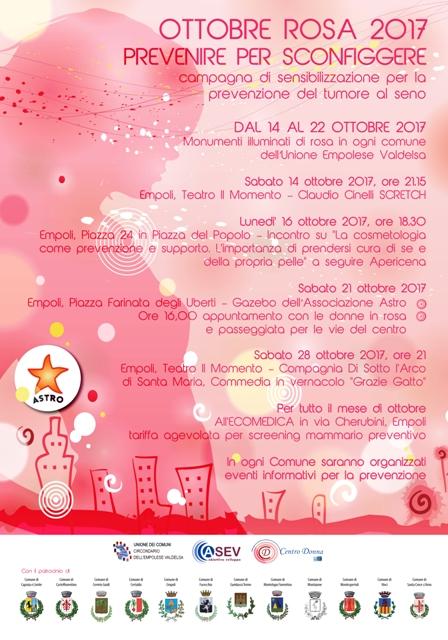 Ottobre Rosa, passeggiata per le vie del centro storico d'Empoli per sensibilizzare alla prevenzione del tumore al seno