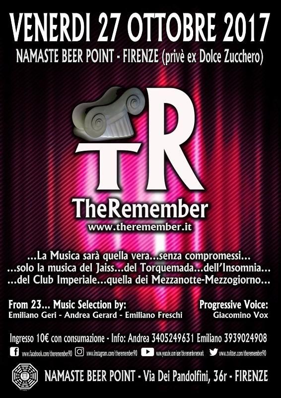 The Remember – a night in progressive music '90 al Namaste Beer Point di Firenze